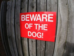 BEWARE of THE DOG, Sign