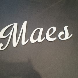 White acrylic letters