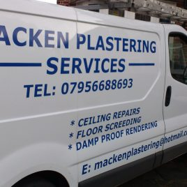 plastering van