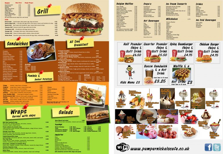 fish and chip shop menu template - custom design printed leaflets guaranteed high quality