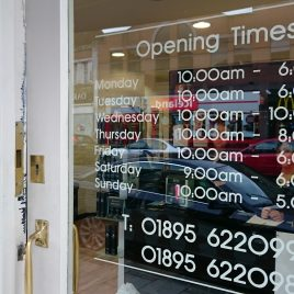 opening times signwriting
