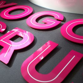 perspex letters