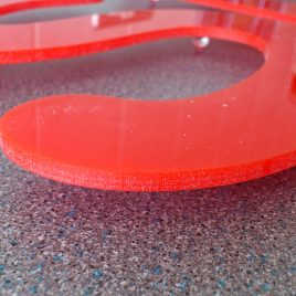 s perspex red