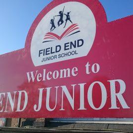 field end school sign