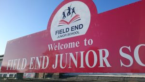 field end school sign