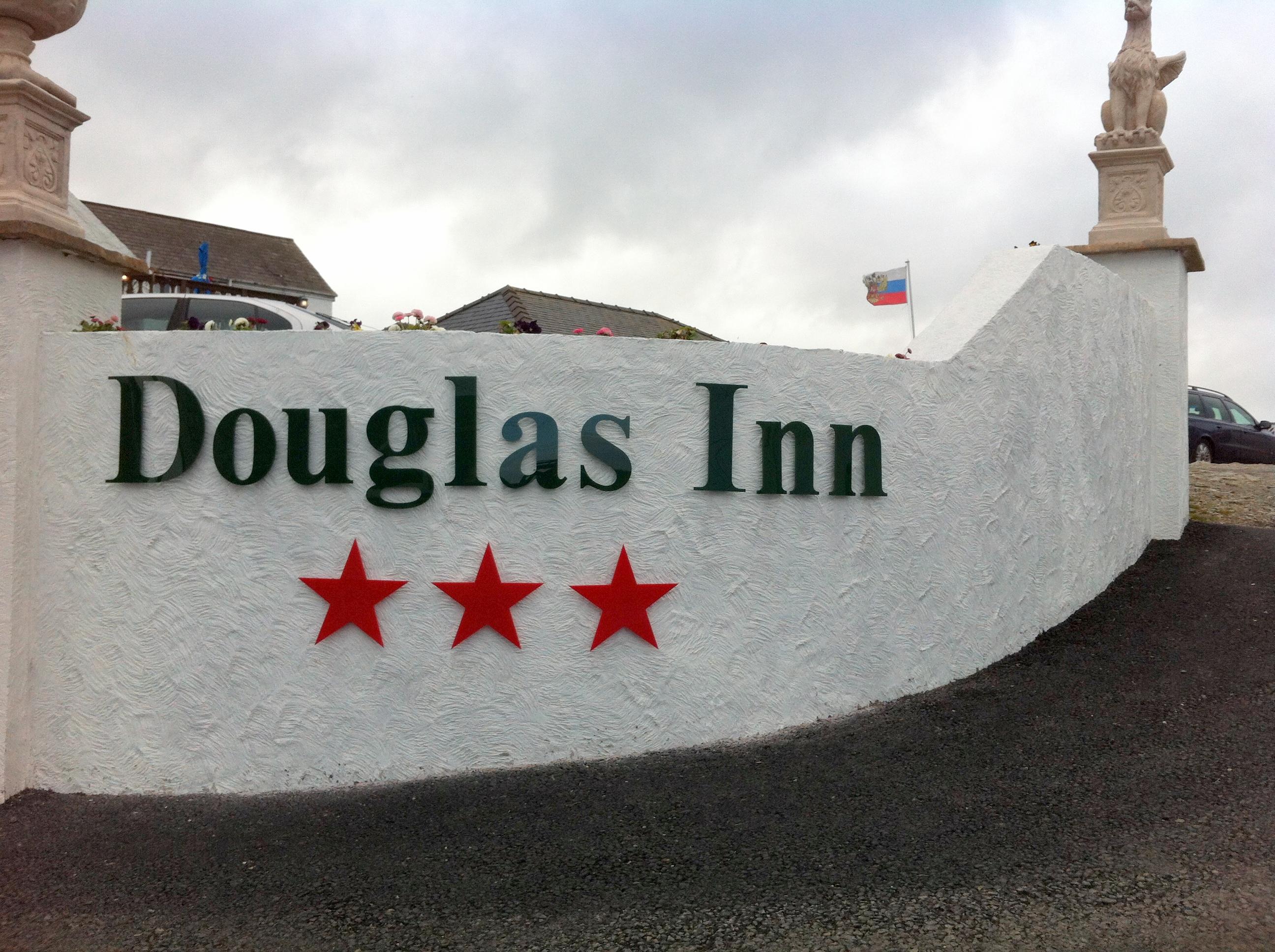 Douglass Inn letters and stars