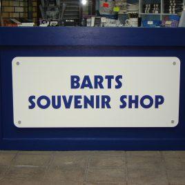acrylic shop sign
