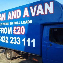 blue van graphics