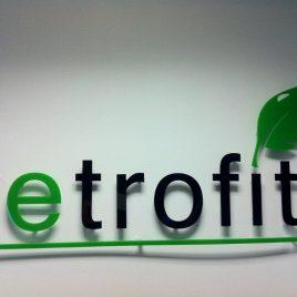green acrylic logo