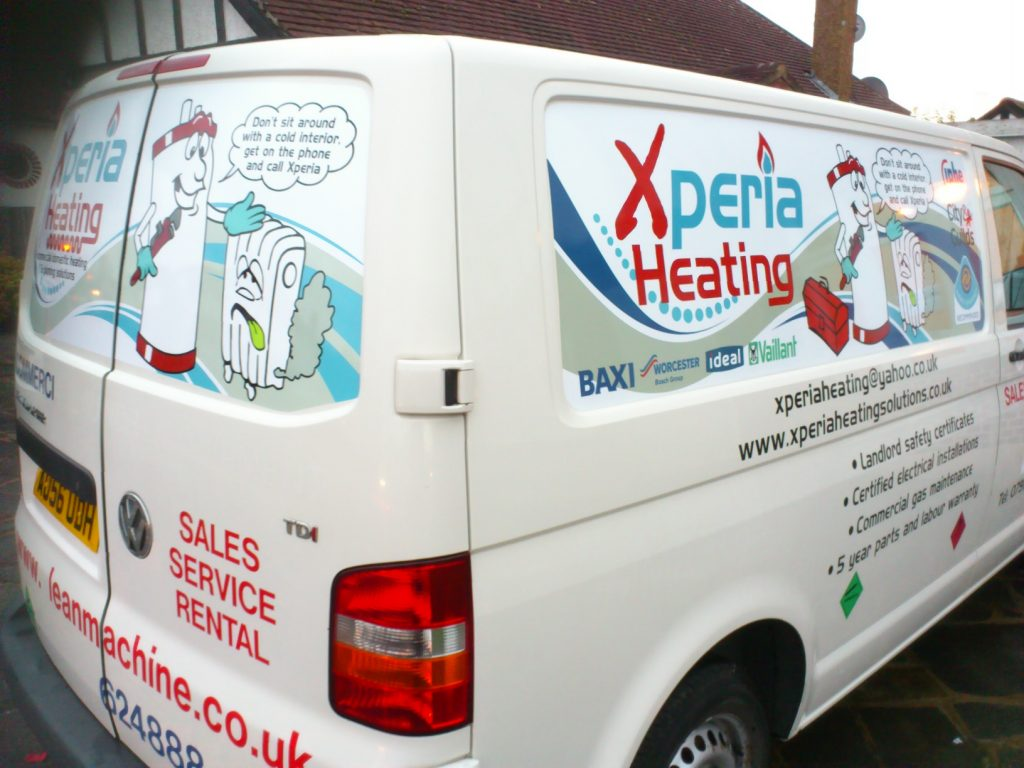 rear of heating van