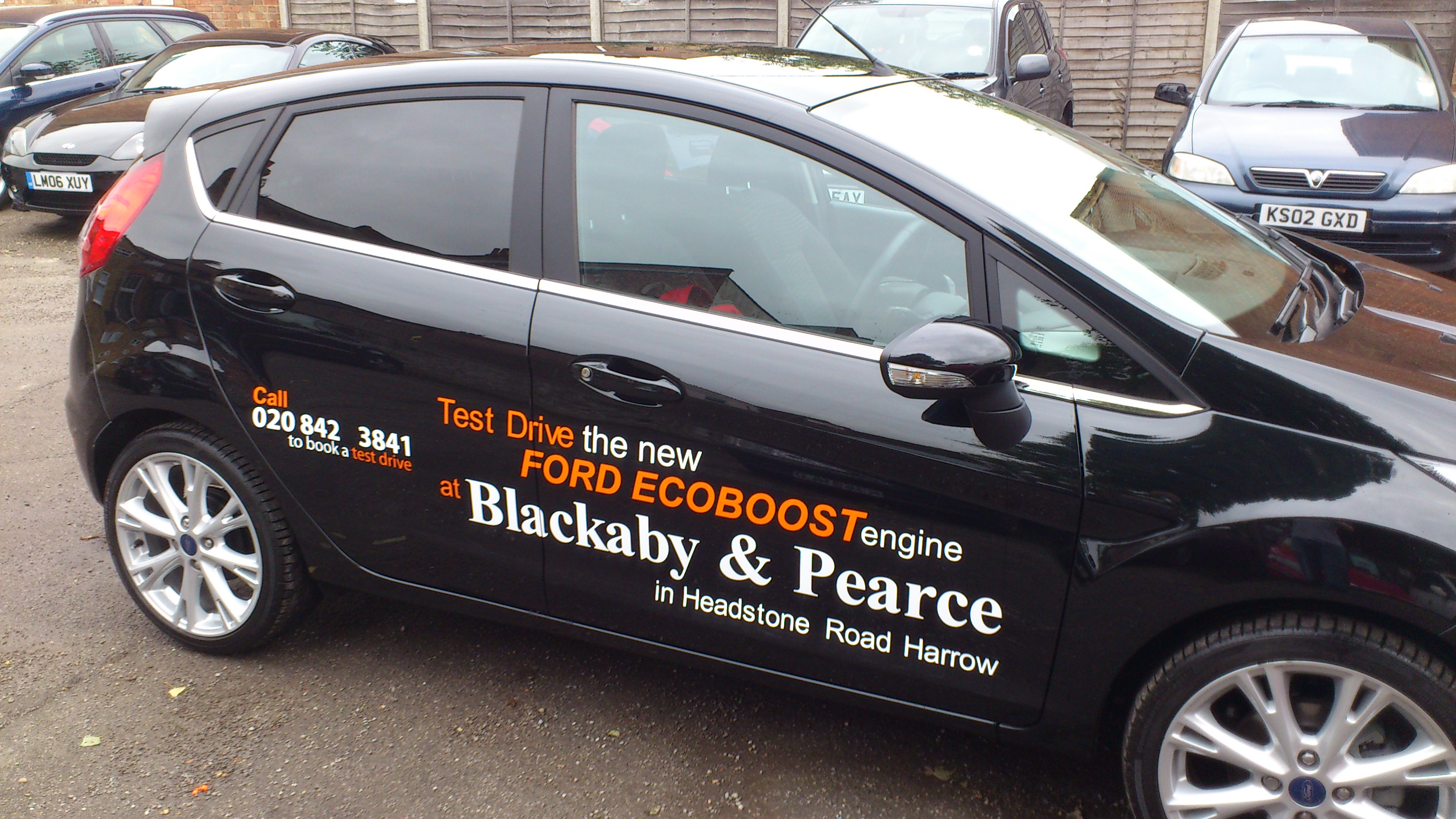 Car stickers advertising - Car Sticker For Blackaby Pearce October 25th 2013admin