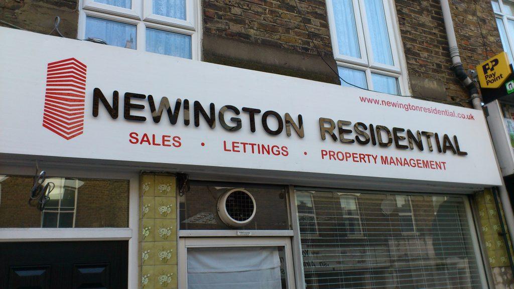 shop front lettering