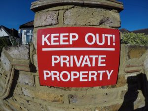 KEEP OUT! PRIVATE PROPERTY, Sign