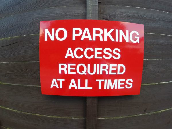NO PARKING ACCESS, Sign