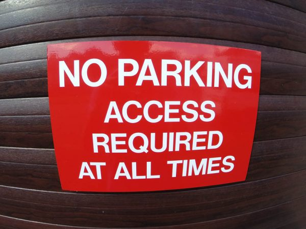 NO PARKING ACCESS, Sign