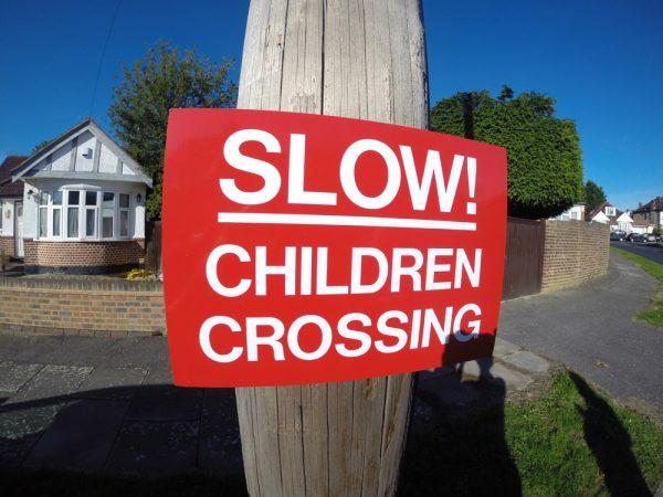 SLOW! CHILDREN CROSSING, Sign