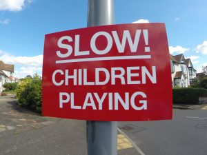 SLOW! CHILDREN PLAYING, Sign